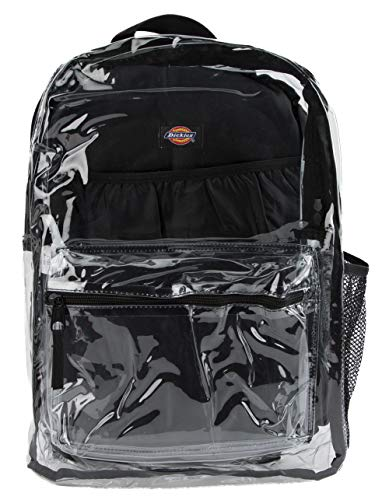 Dickies Clear Student Fashion Backpack, Black, One Size ()