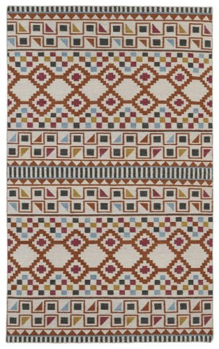 llection NOM08-53 Paprika Flat-Weave 3'6