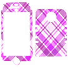 Cell Armor IPHONE4G-RSNAP-TE338 Rocker Snap-On Case for iPhone 4/4S - Retail Packaging - Pink and Purple Plaid