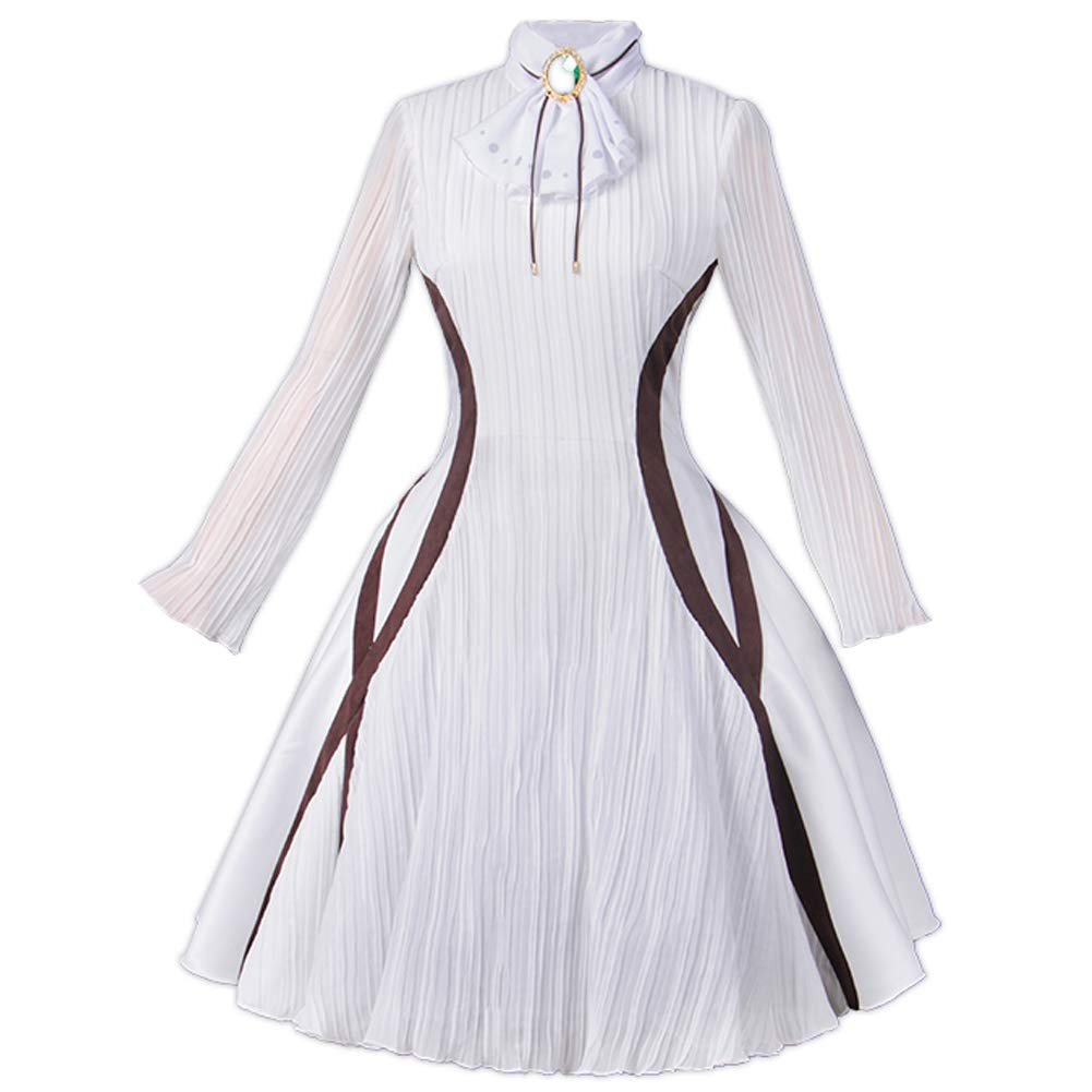 Anime Violet Evergarden Cosplay Costume Blue Jacket White Dress Free Shipping
