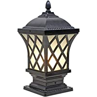 HJZY Ámbito Europeo Exterior Exterior Farola Exterior Luces de jardín Impermeable IP54 Luces de Pilar Decoración Jardín Terraza Patio Carril Valla Columna Ballard Light Tradition E27