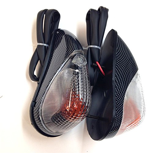 XKH Group Clear Lens Euro Led Flush Mount Turn Signal For Yamaha Yzf R6S Kawasaki Ninja EX250 250R 1998 2009 (Rear Only) ZZR 600 2005 2010 Carbon look