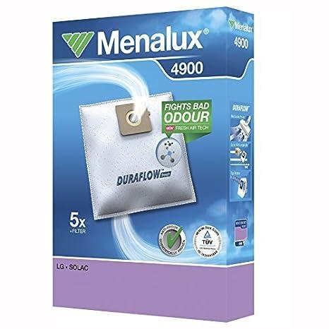 Menalux 4900 - Pack de 5 Bolsas y 1 Filtro para Aspiradores ...