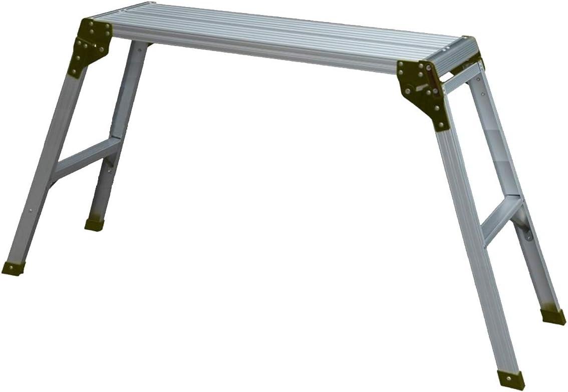 WORHAN® Plataforma de Trabajo Plegable Aluminio Podio Mesa Escalera H=75cm Compácta H2A: Amazon.es: Bricolaje y herramientas
