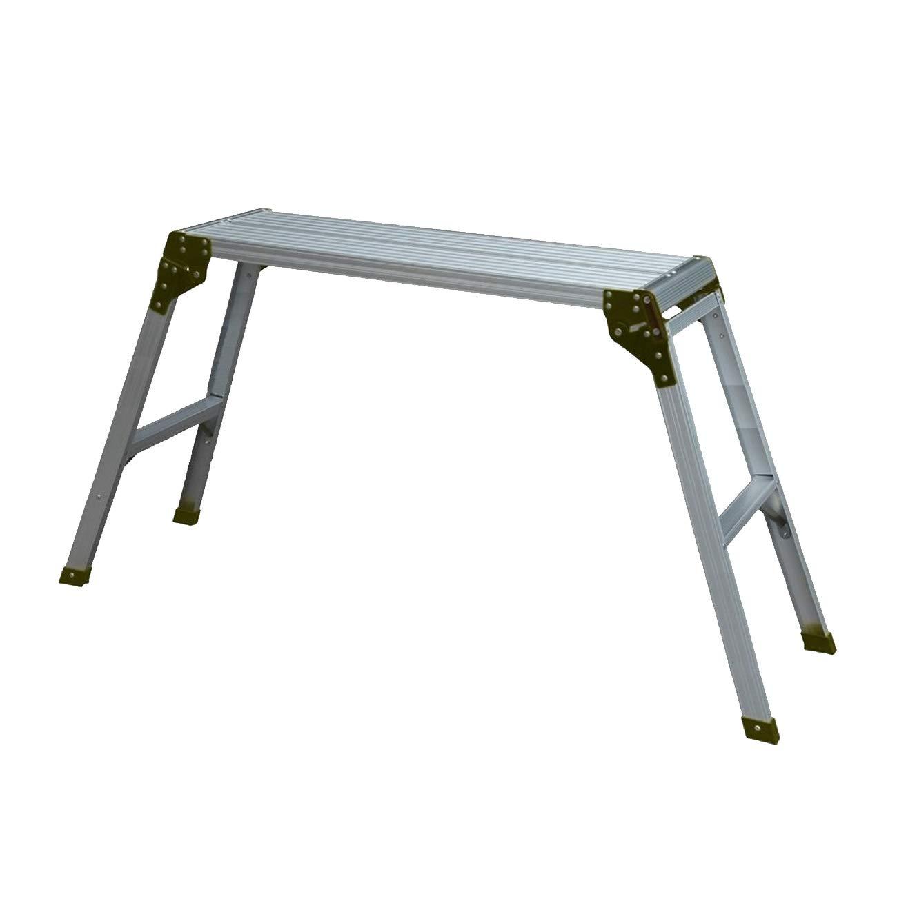 WORHAN® Plataforma de Trabajo Plegable Aluminio Podio Mesa Escalera H=75cm Compácta H2A WORHAN®