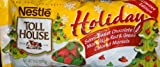 Nestle Holiday Semi Sweet Chocolate Morsels with Red & Green Colored Morsels 10 Oz 6 Pack