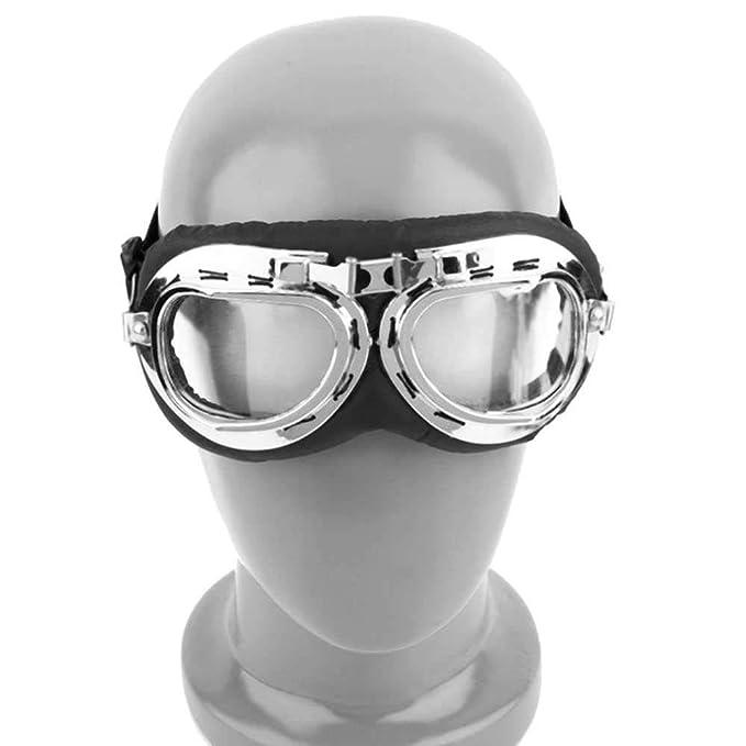 Gafas Motero UV Estilo Aviador Retro para Disfraz Cosplay Steampunk LenteAhumada