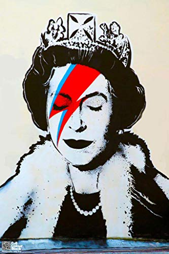 - Banksy Queen As Ziggy Stardust Graffiti Art Print Poster 12x18 inch