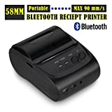 Bluetooth Label Printer - 2 Inches 58mm Mini Android Bluetooth Port Thermal Receipt Printer Thermal Printer(buyers Will Need to Create Their Own Custom Printing Software When Used with Android Based Devices)