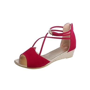 892403eace2e Lolittas Ladies Women Gladiator Low Heel Wedge Sandals