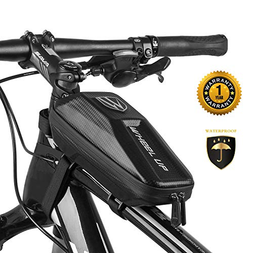 Saddle Tube - LIVE4COOL Bike Bag, Top Tube Waterproof Bike Frame Bag, Anti-Tear & Abrasion Resistance with Double Sealed Zipper, Front Bike Bag for iPhone XR XS X 8 7 6s Plus Samsung Galaxy S7 S8 S9 Note OnePlus
