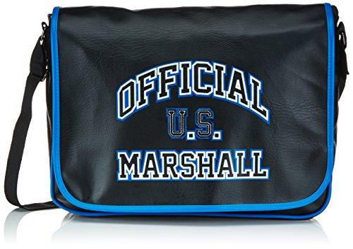US Marshall Borsa a spalla, Nero/Blu (Nero) - USH25349
