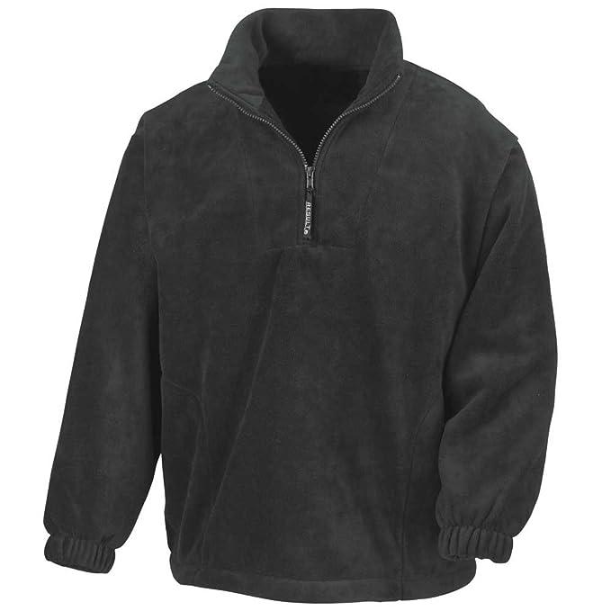 1651a4f46c4c Result Mens Active Half Zip Fleece Jackets  Amazon.co.uk  Clothing