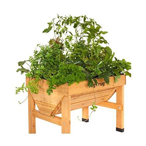 Mesa de cultivo de madera Vegtrug mediana: Amazon.es: Jardín
