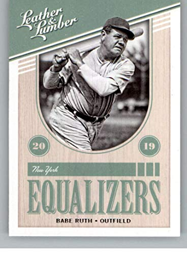 2019 Leather and Lumber RETAIL Equalizers #2 Babe Ruth New York Yankees Official MLBPA Licensed Panini Baseball Card