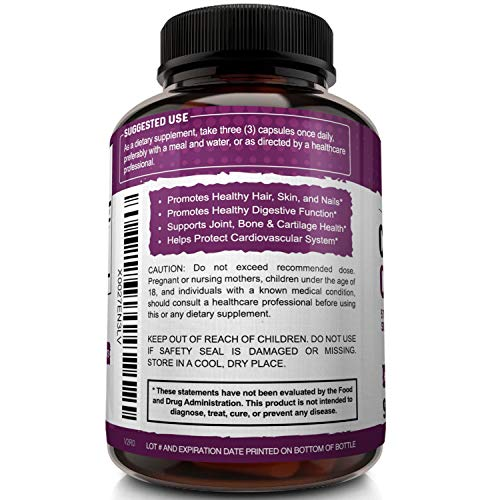 51CPFyoZn8L - NutriFlair Multi Collagen Pills - Type I, II, III, V, X - Premium Collagen Peptides Complex for Anti-Aging and Healthy Joints, Hair, Skin, and Nails - Hydrolyzed Protein Supplement for Women and Men