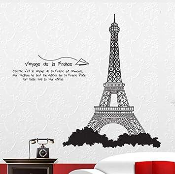 Rureng Negro La Torre Eiffel Las Pegatinas De Pared Del
