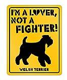 Idakoos - I'm a Lover Welsh Terrier - Dogs - Parking Sign