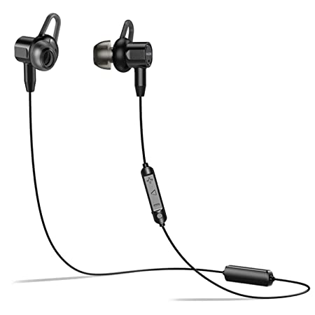 Bluetooth Noise Cancelling Headphones, Waterproof Ipx6 Wireless Earbuds Sport W/Mic 10 Hrs Playback Built In Magnets Active Noise Cancelling Headsets Stereo In Ear Earphones For Gym Running Workout by Yjdh
