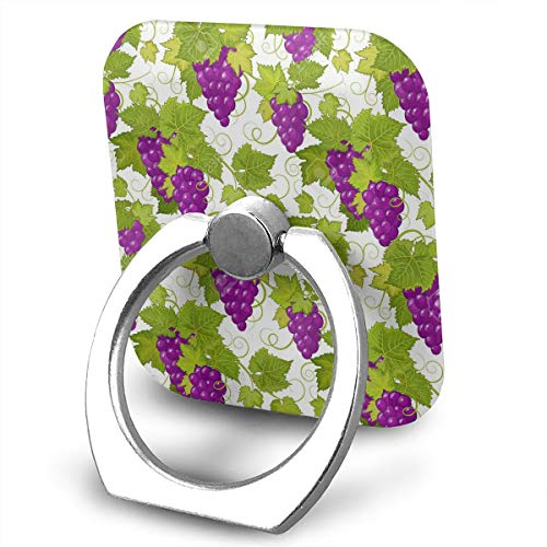 (Cell Phone Holder Stand Grapes Illustration 360 Degrees Rotation Universal Finger Grip for All)