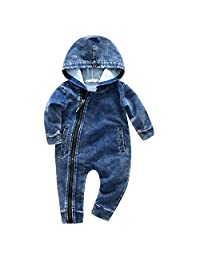 Kimocat Baby Girls Clothes Boys Rompers Long Sleeves Toddler Infant Bodysuit Clothing