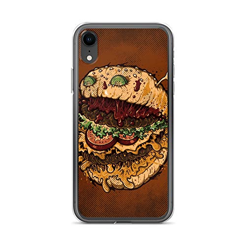 iPhone XR Case Anti-Scratch Creature Animal Transparent Cases Cover Monster Burger Animals Fauna Crystal Clear