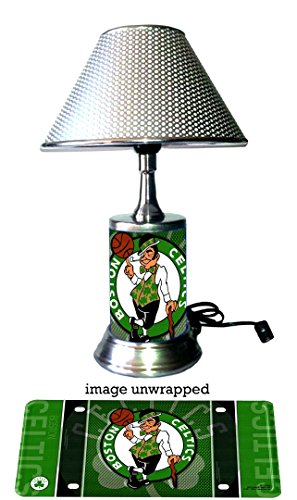 Rico Table Lamp with chrome shade, Boston Celtics Lamp with chrome shade