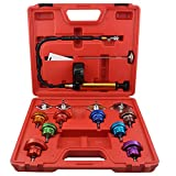 Ronben 14Pcs Cooling System Tester Radiator Pressure Test Gauge Set Garge Tool Kit,DHL Shipping