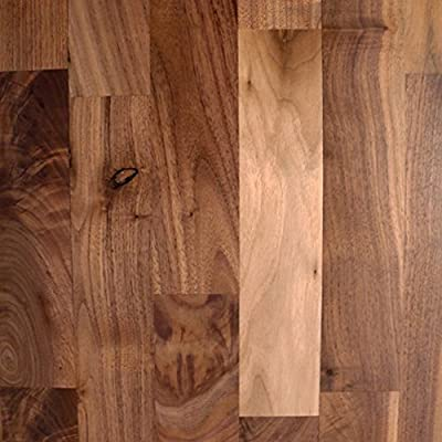 "Walnut #2 Common Unfinished Solid Wood Flooring 5"" x 3/4"" Samples at Discount Prices by Hurst Hardwoods"