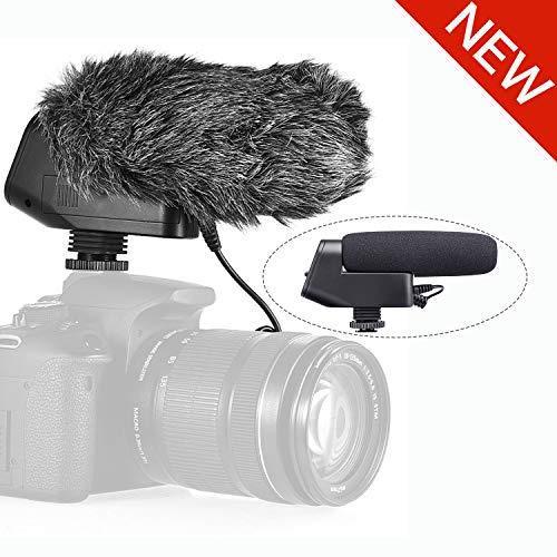 میکروفون TRS Shotgun Microphone، BOYA BY-VM600 Cardensid Directional Condenser Card Onid Camera for Canon Nikon Sony DLSR دوربین Pentax مصاحبه دوربین فیلمبرداری پنتاکس پخش ویدیو YouTube Video