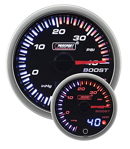 Boost Gauge- Electrical Amber/white JDM Series 52mm (2 1/16
