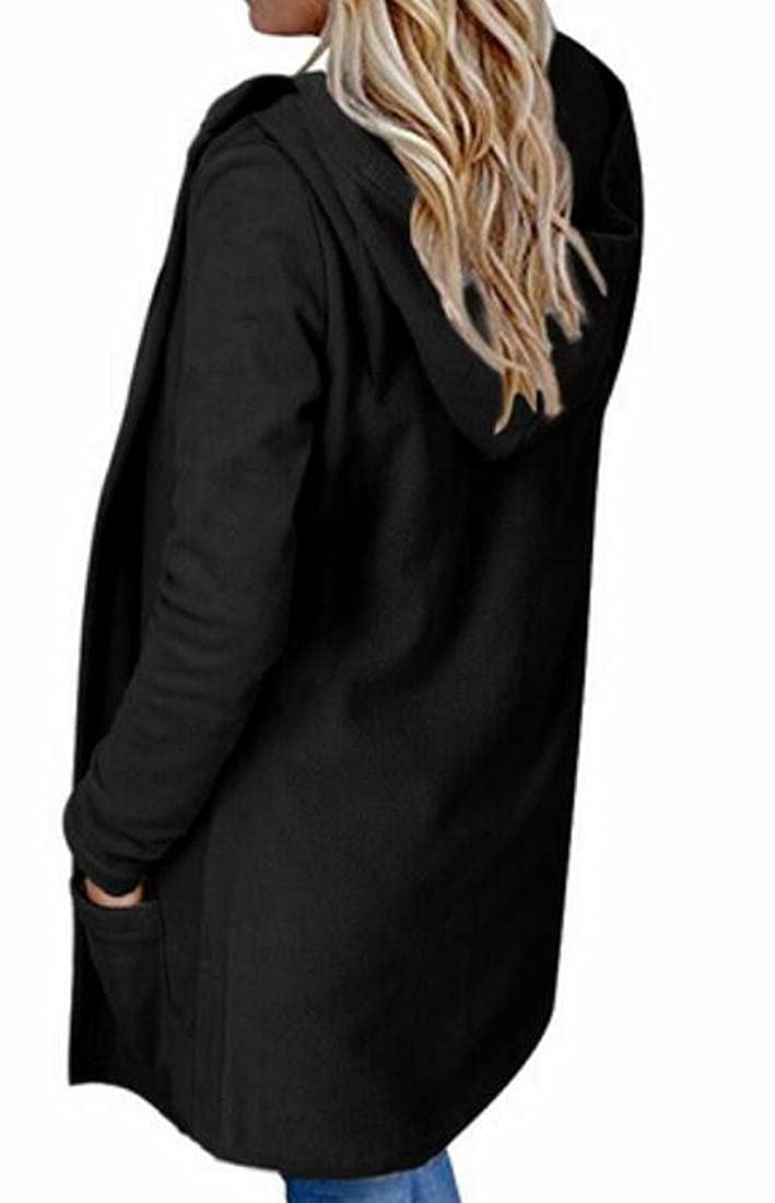 S-Fly Womens Stylish Hoodies Open Front Pockets Loose Sweatershirt Jacket