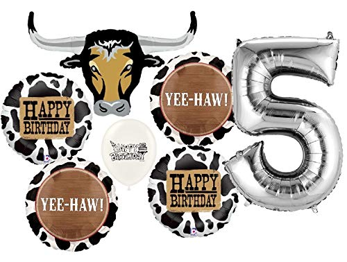 Ultimate Western Longhorn 5th Birthday Party Event Bouquet of Balloons