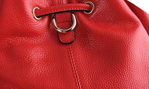Cuero GSHGA Purple Diagonal Grey Bolsa De De Moda Doble Cubo Bandolera Genuino De Nueva Bolsos Paquete Uso Totes qrnqp1Pw