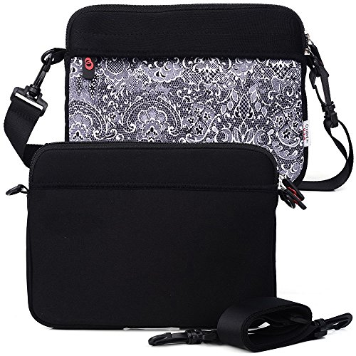 Comfort Black/Paisley College Bag W/Shoulder Strap fits Apple MacBook 12, MacBook Air 13, MacBook Pro 13-inch (2016) Retina Display Laptop -  EnvyDeal, ND13S2K1 EN TYS2