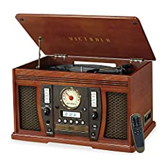 The Victrola Aviator 8-in-1 turntable combines a classic look with high-tech features! With a 3-speed turntable, you also have the ability to record vinyl straight to MP3! That's just one of many awesome features, such as CD, Cassette, and US...
