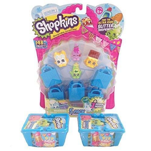 Shopkins Season 1 Value Pack - 9 Shopkins, 5 Bags and 2 Baskets Model: