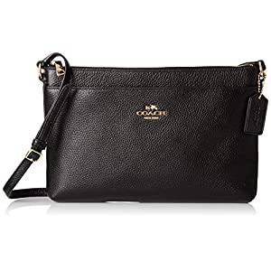 COACH Womens Polished Pebble Journal Crossbody