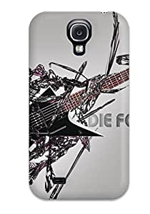 Tpu Case Cover For Galaxy S4 Strong Perfect Protect Case - Heavy Metal Music People Music Design