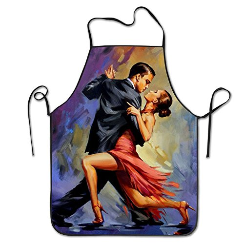 SHUREN Dance Day Lightweight Aprons For Women Resists Grill Apron by SHUREN