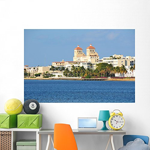 West Palm Hotel Wall Mural by Wallmonkeys Peel and Stick Graphic (72 in W x 48 in H) - Beach West City Of Place Palm