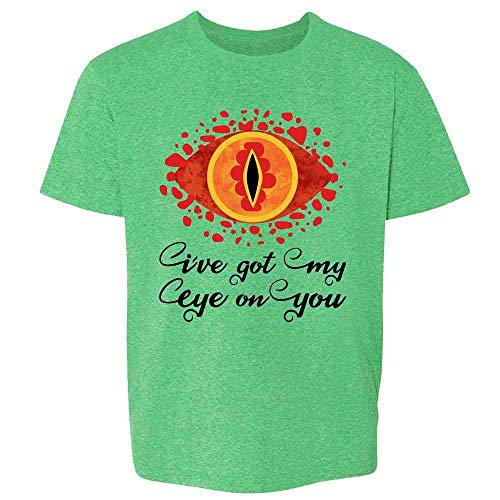 I've Got My Eye On You Funny Geeky Fantasy Heather Irish Green 3T Toddler Kids T-Shirt (Precious Ring Lord Of The Rings Quote)