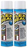 stop roof leak - Flex Seal Spray Rubber Sealant Coating, 14-oz, Brite (2 Pack)