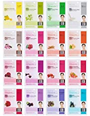 Dermal Korea Collagen Essence Full Face Facial Mask Sheet, 16 Combo Pack by