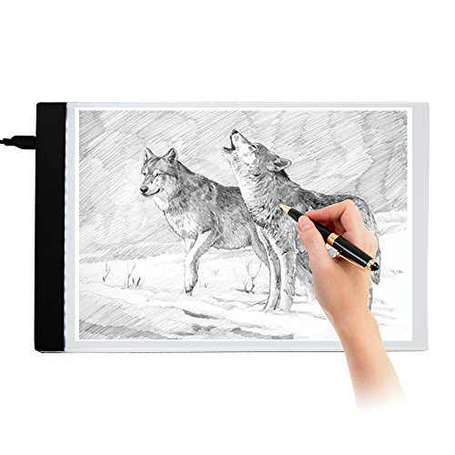 Interlink A4 LED Light Box Tracer Ultra-thin Tracing Pad USB Powered Portable Drawing BoardStencil Artist Brightness Artcraft Eye-protected Board Digital Table Gifts for Kids Animation Designing Sew by Interlink