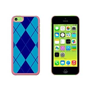 Argyle Hipster Blue Snap On Hard Protective For SamSung Galaxy S5 Phone Case Cover - Pink