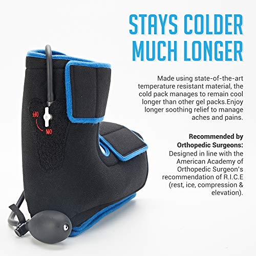 Bodyprox Ankle Ice Pack Injuries, Hot & Cold Air Compression Ankle Brace Support, Helps Stabilize Relieve Achilles Tendon Pain, Ankle Sprains, Arthritis, Joint Pain Sports Injury by Bodyprox (Image #1)