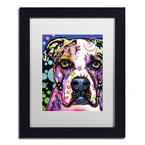American Bulldog II by Dean Russo, White Matte, Black Frame 11x14-Inch