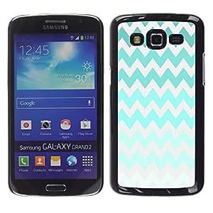 Be Good Phone Accessory // Dura Cáscara cubierta Protectora Caso Carcasa Funda de Protección para Samsung Galaxy Grand 2 SM-G7102 SM-G7105 // Iridescent Green Colorful Gray