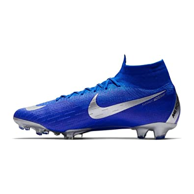 online retailer 0ebe6 0ced4 Amazon.com  Nike Mercurial Superfly VI 6 Elite FG AH7365-400 Racer Blue Silver Mens Soccer Cleats  Soccer